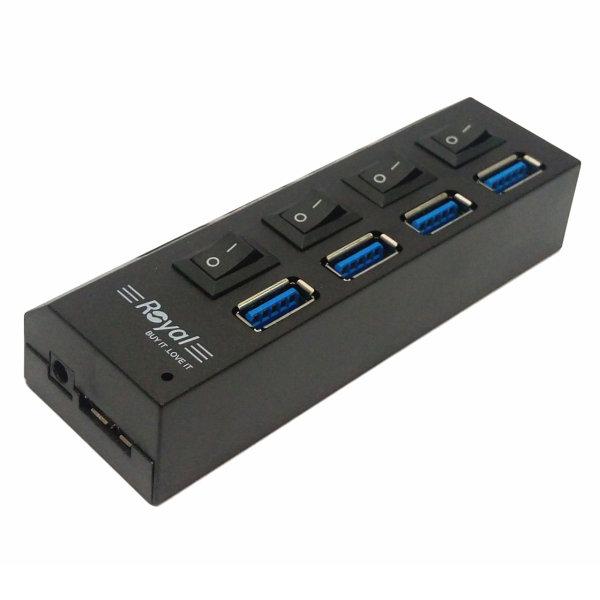 هاب چهار پورت USB 3.0 رویال مدل RH3-411