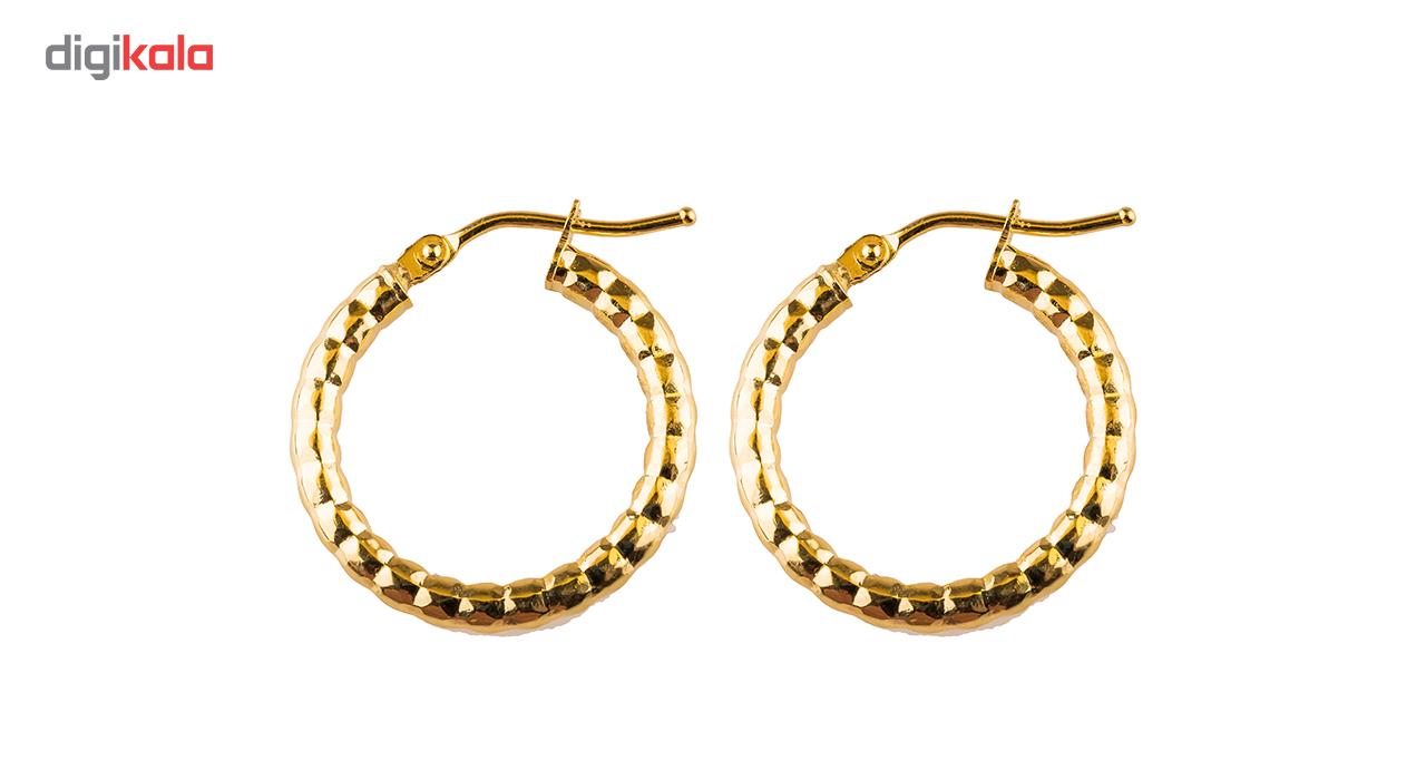 گوشواره طلا 18عیار گالری طلاباران مدل حلقه ای 003