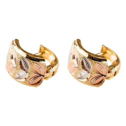 گوشواره طلا 18عیار گالری طلاباران مدل حلقه ای 009