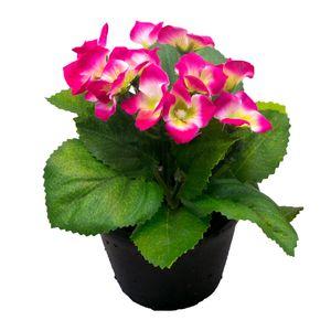 گلدان و گل مصنوعی وینیکا طرح ارتانزیا مدل WKA5210-pink