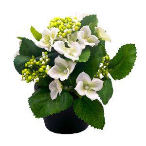 گلدان و گل مصنوعی وینیکا طرح ارتانزیا مدل WKA5210-wh