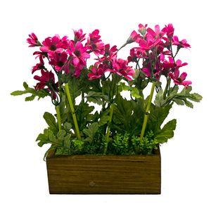 گلدان و گل مصنوعی وینیکا طرح سینوره نروژی مدل WKA4002-pink