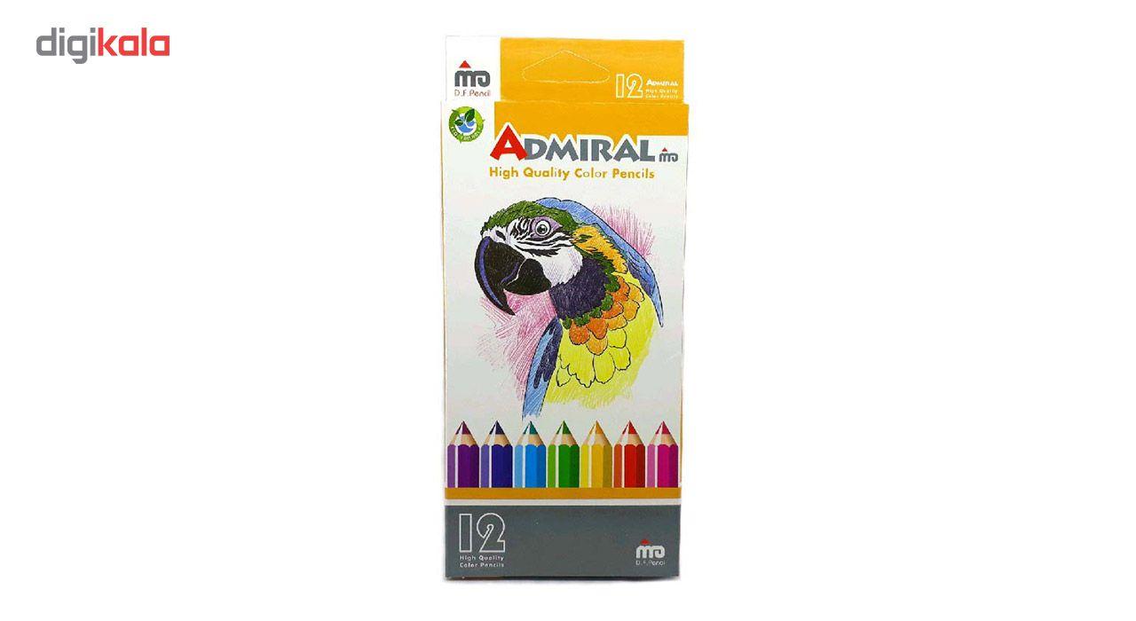 مداد رنگی 12 رنگ آدمیرال مدل MDF main 1 1