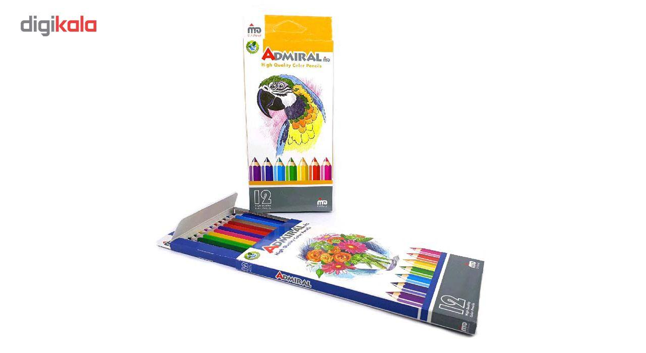 مداد رنگی 12 رنگ آدمیرال مدل MDF main 1 2