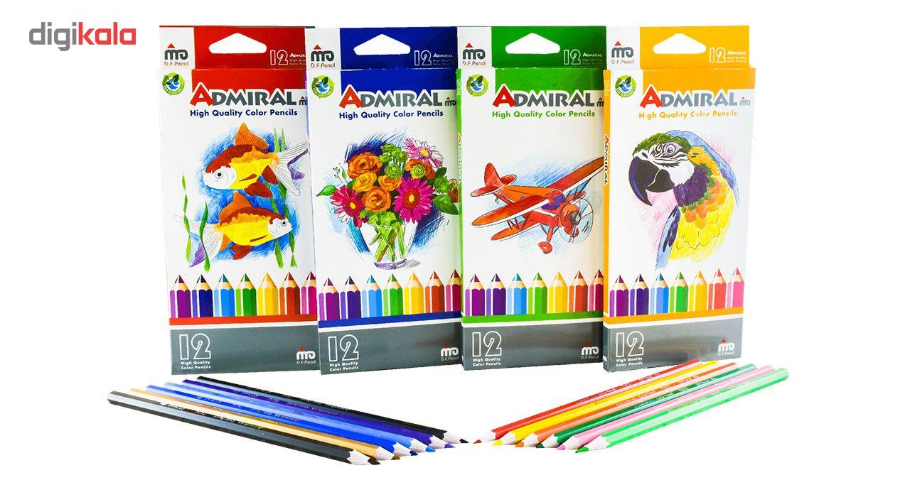 مداد رنگی 12 رنگ آدمیرال مدل MDF main 1 3