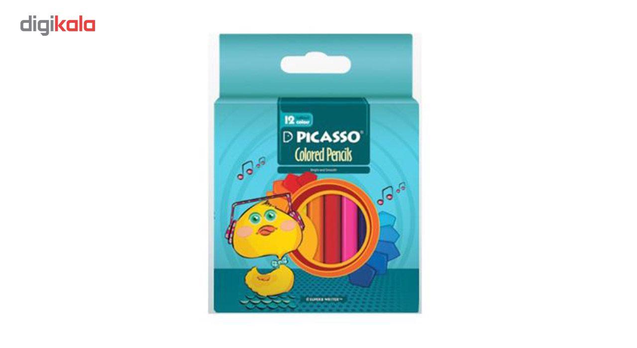 مداد رنگی 12 رنگ پیکاسو کد 4100 main 1 1