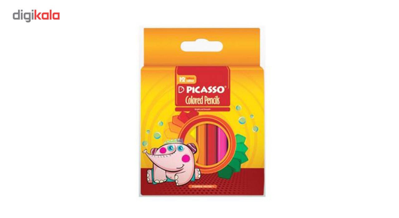 مداد رنگی 12 رنگ پیکاسو کد 4100 main 1 2