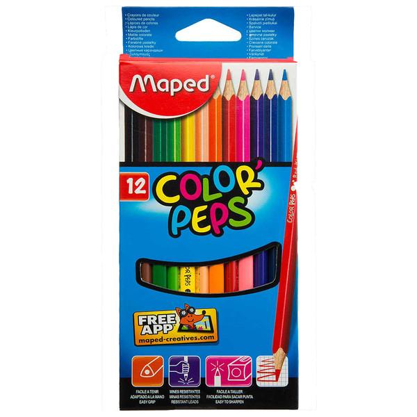 مداد رنگی 12 رنگ مپد مدل 1216