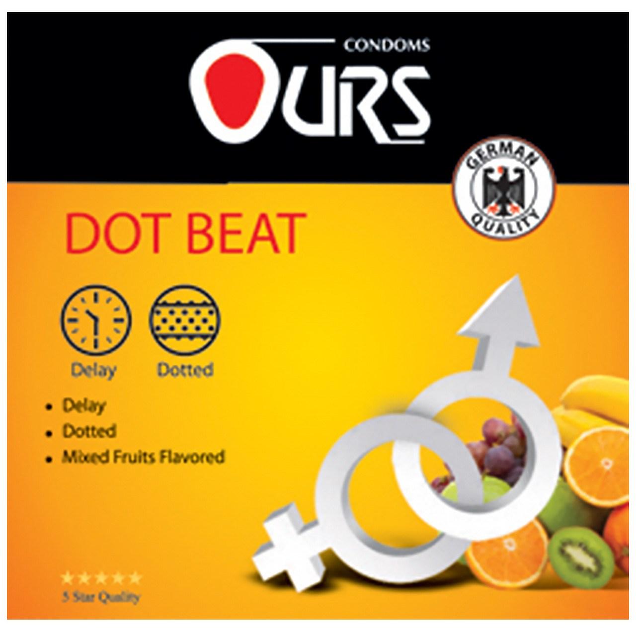 قیمت کاندوم تاخیری اورز مدل Dot Beat بسته 3 عددی