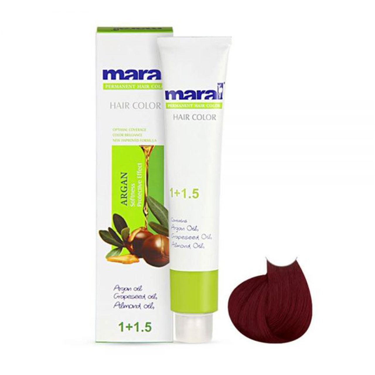 رنگ مو مارال سری قرمز مدل اناری شماره 4.66