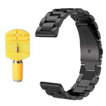 بند فلزی مدل Three Bead مناسب برای ساعت هوشمند Gear Sport/Gear S2 Classic به همراه آچار و محافظ صفحه نمایش