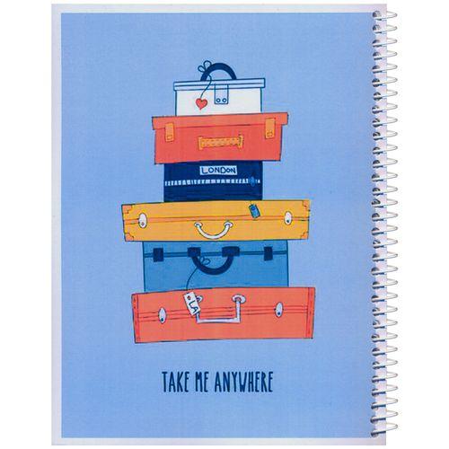 دفتر مشق مدل کژوال طرح چمدان ها