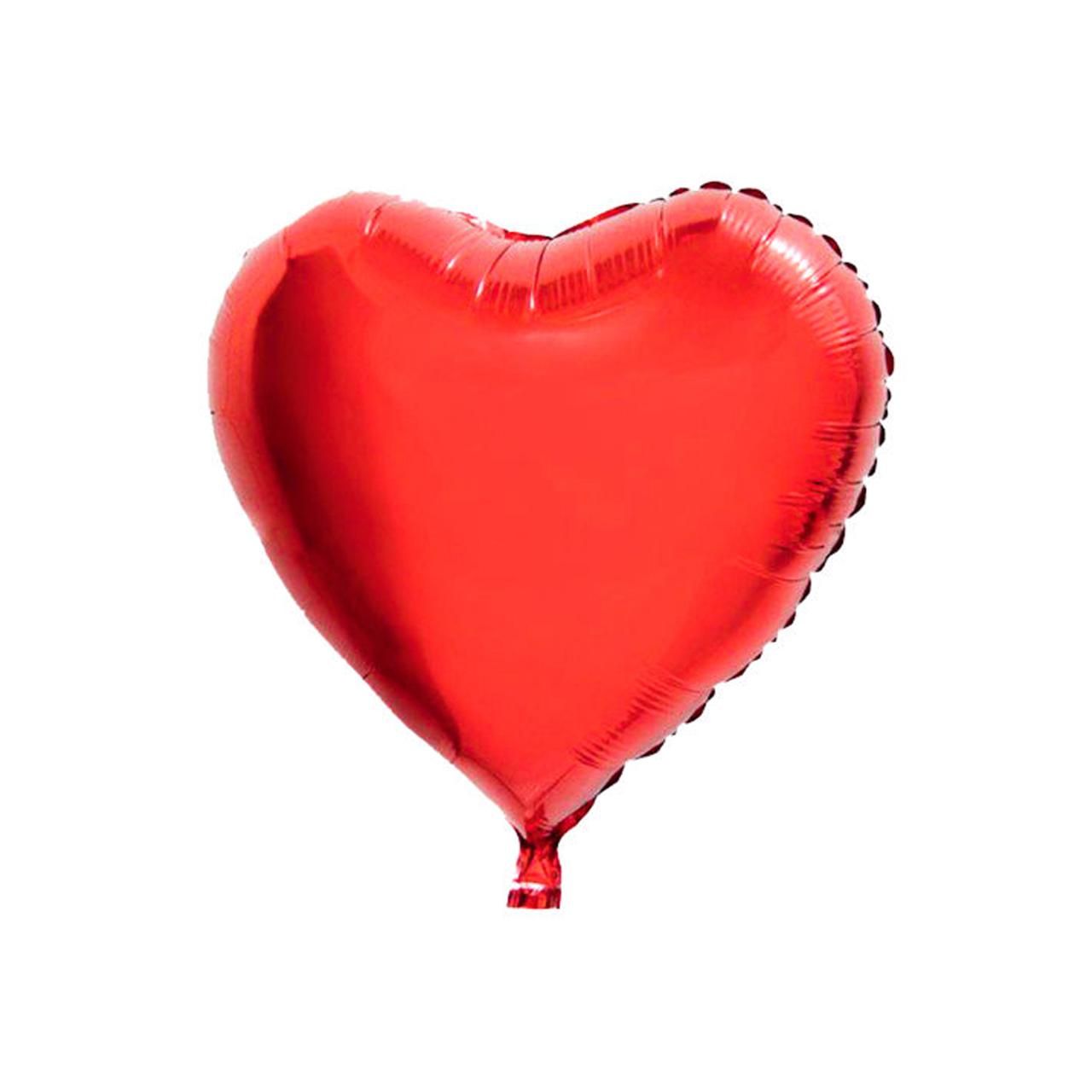 عکس بادکنک فویلی طرح قلب سایز 45 × 45 سانتی متر سایز 150