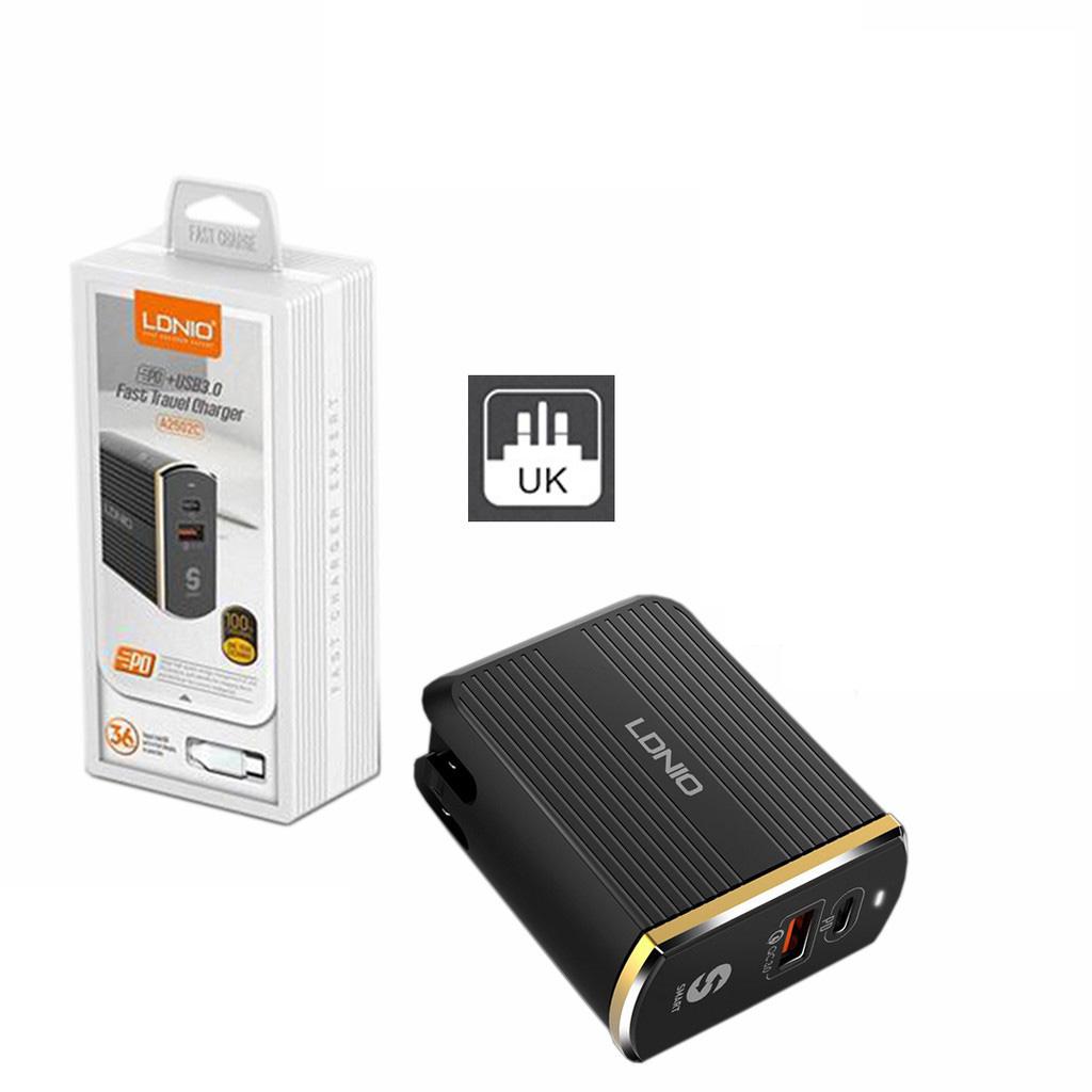 شارژر دیواری الدینیو مدل A2502C به همراه کابل micro USB