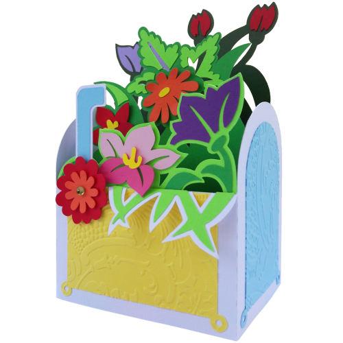 کارت باکس دست ساز هدهد طرح صندوق گل کد S888