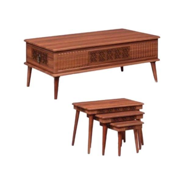 میز پذیرایی مدل ویانا مجموعه 4 عددی