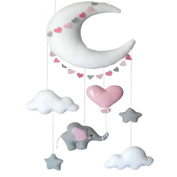 آویز تخت کودک ریماز مدل فیل و ماه