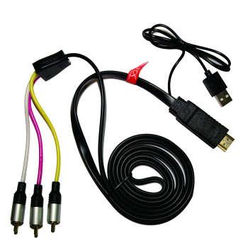 کابل مبدل HDMI/M به AV/RCA مدل BH_PHMA