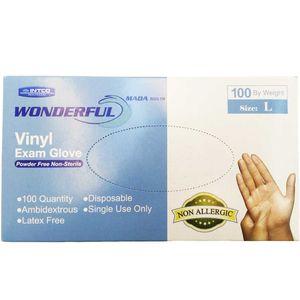 دستکش یکبار مصرف INTCO مدل Vinyl بسته 100 عددی