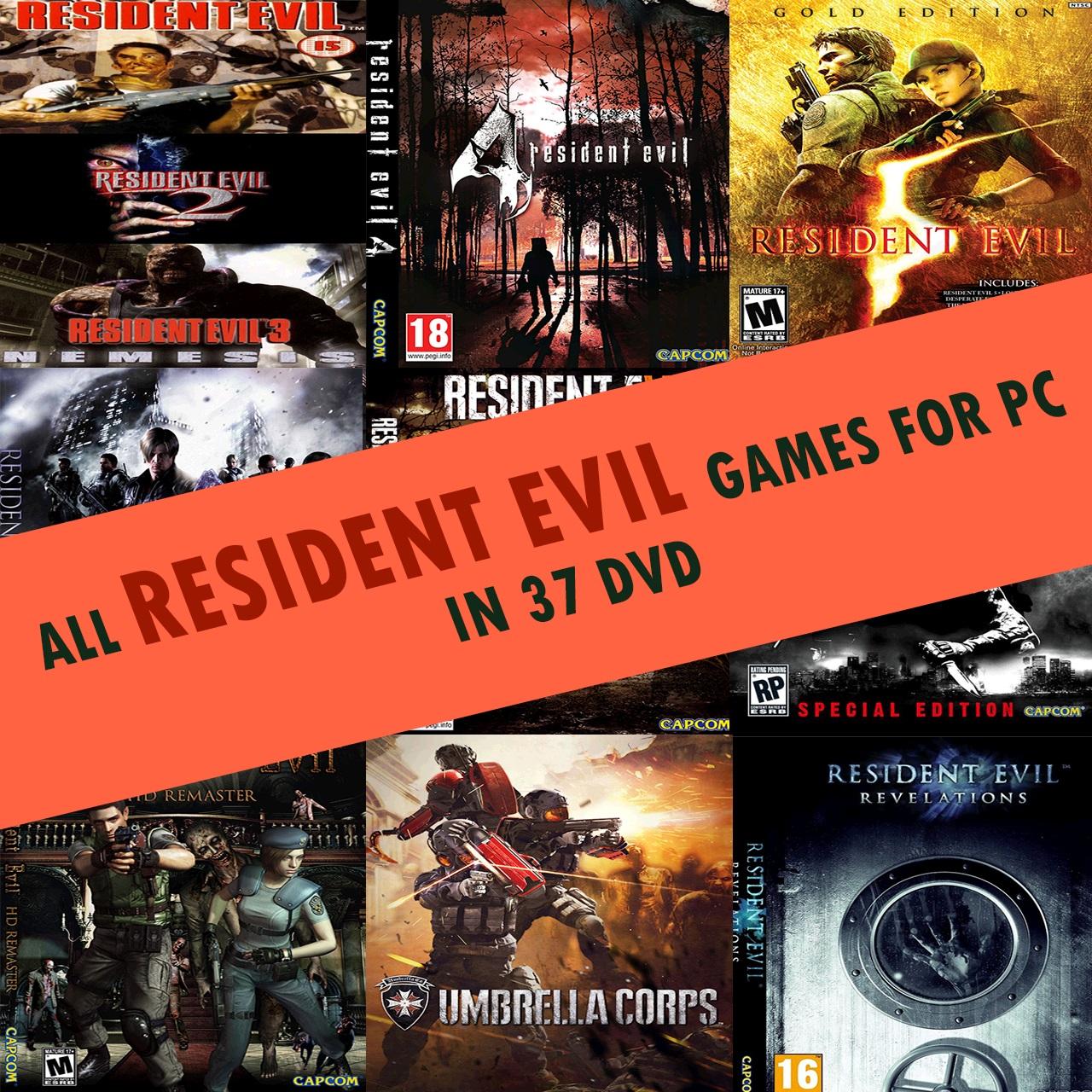 مجموعه بازی هایRESIDENT EVIL مخصوص کامپیوتر