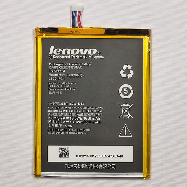 باتری تبلت مدل L12D1P31 ظرفیت 3650 میلی آمپر ساعتمناسب برای تبلت لنوو A3000