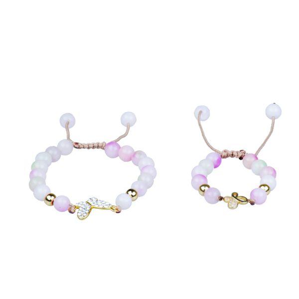 دستبند پرنا مدل پروانه بسته مادر و کودک