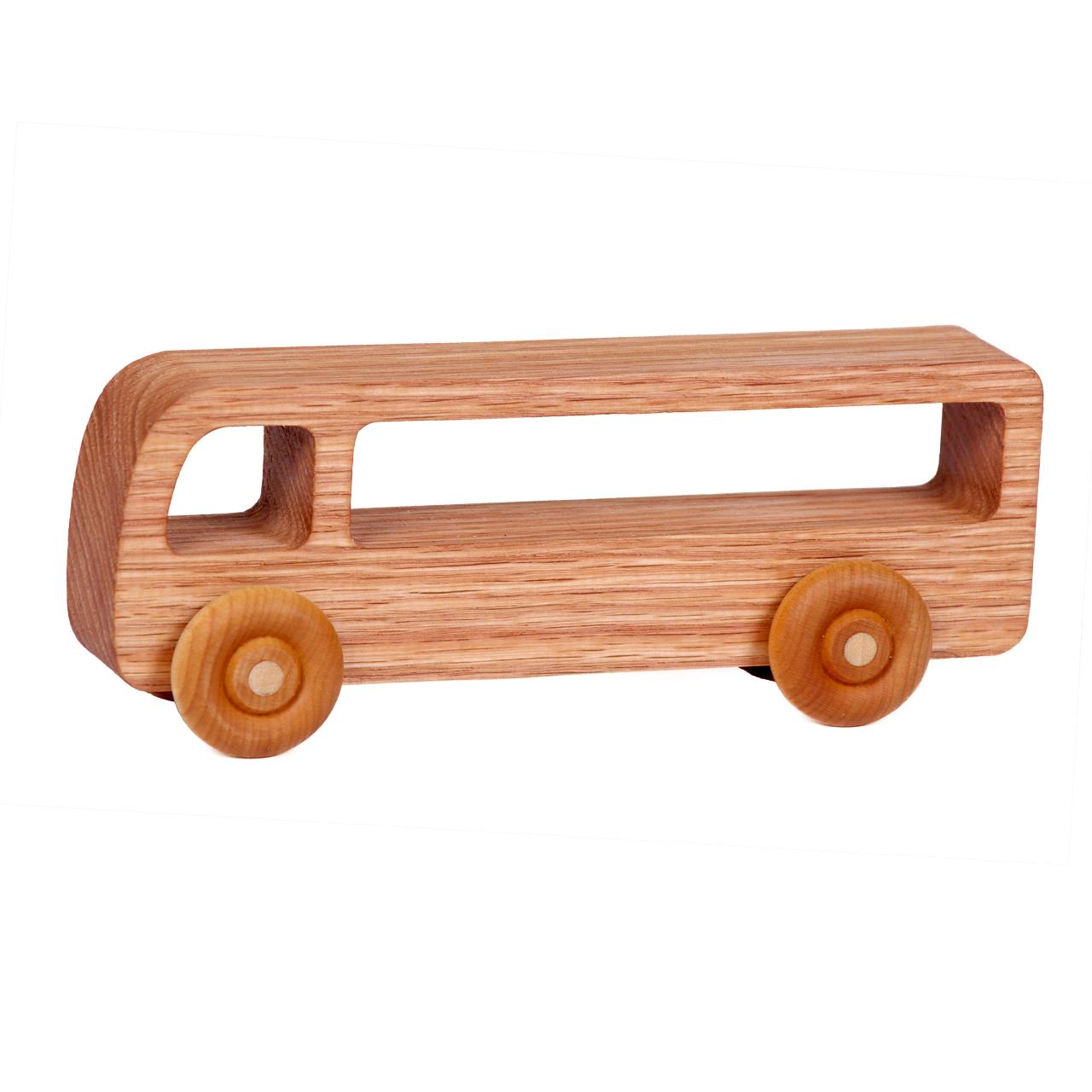 ماشین اسباب بازی چوبی مدل Bus