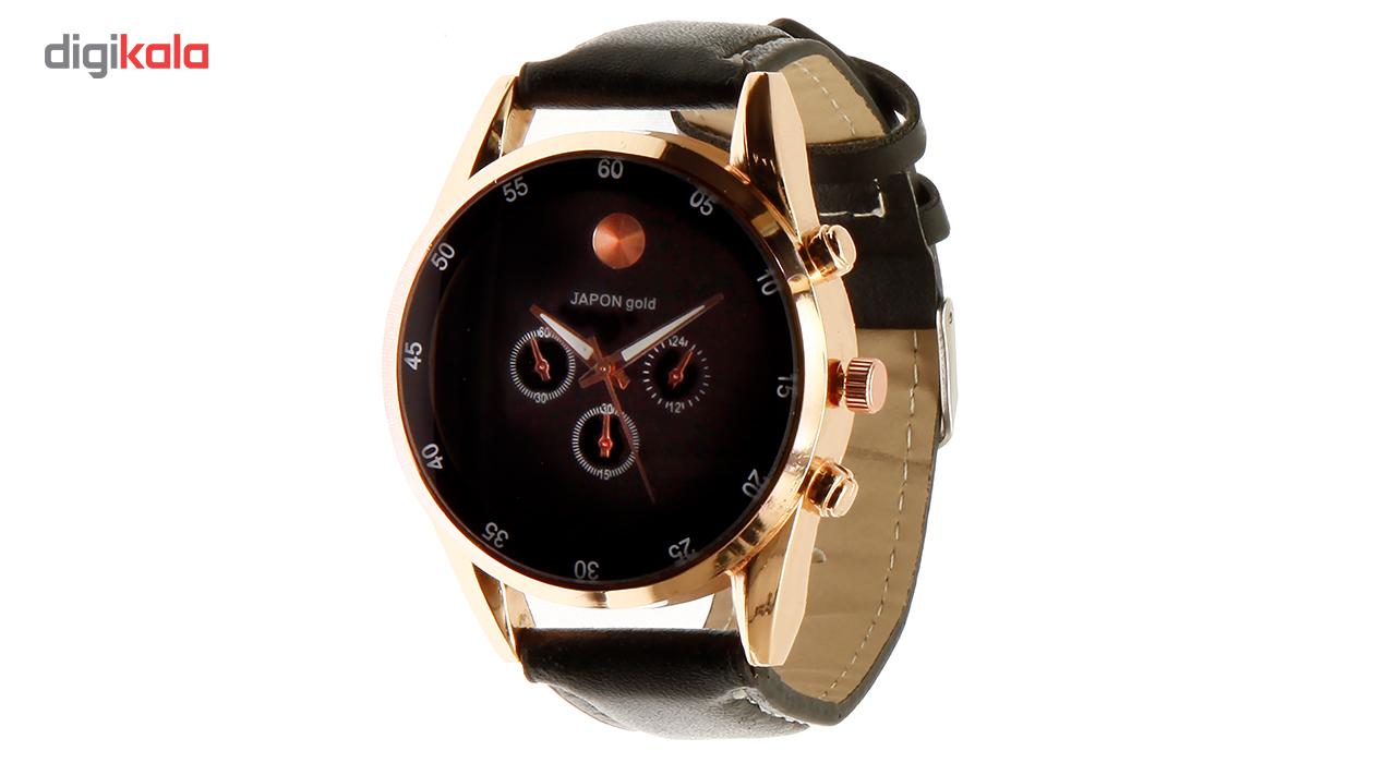 خرید ساعت مچی عقربه ای مردانه ژاپن گلد مدل 0101-80022