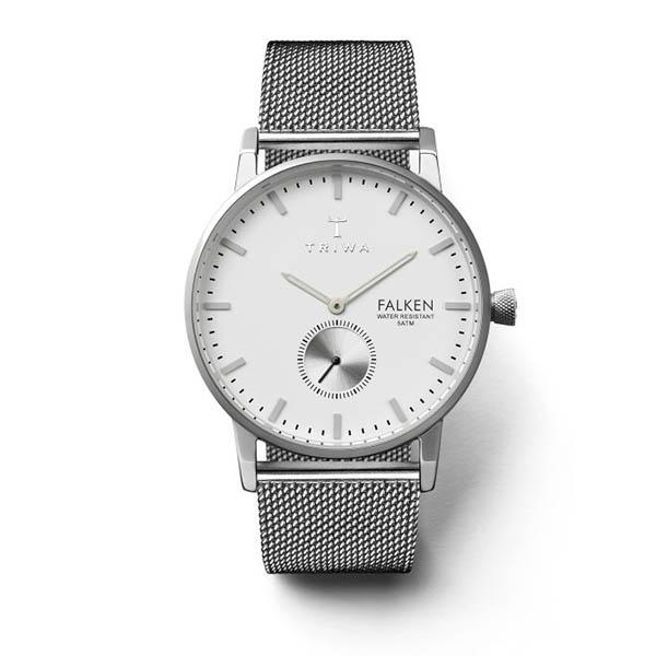 ساعت مچی عقربه ای تریوا مدل Ivory Falken steel mesh