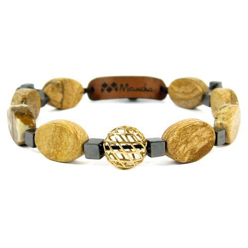 دستبند طلا 18عیار مانچو مدل bfg569