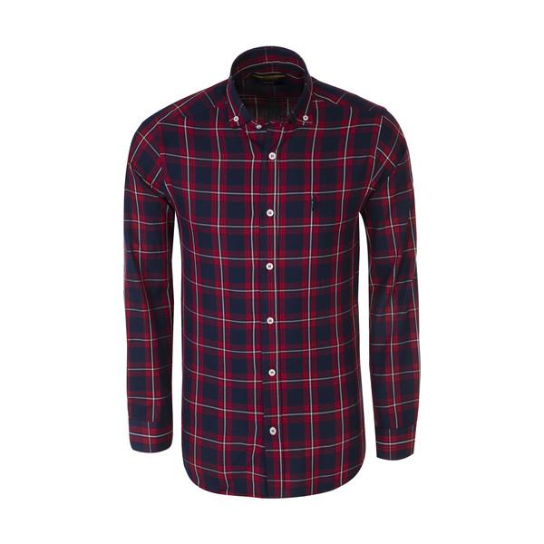 پیراهن آستین بلند مردانه پولو مدل MM03