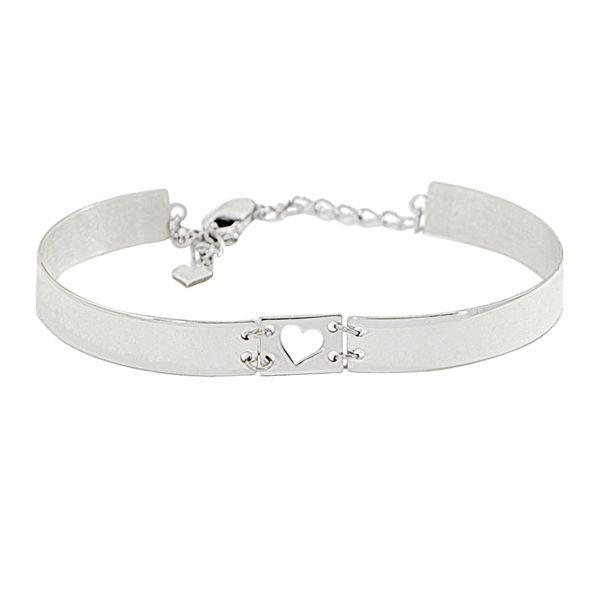 دستبند نقره زنانهدلی جم طرح قلب کد 212 D