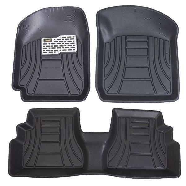 کفپوش سه بعدی خودرو ماهوت مدل لب برگردان مناسب برای پراید 132-131