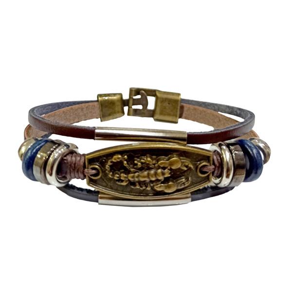 دستبند دست ساز مردانه مدل عقرب کد CAF2020
