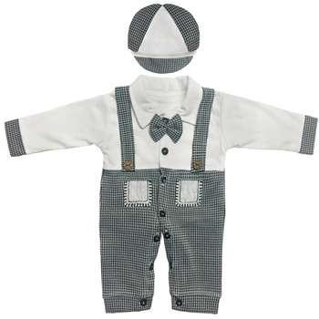 ست سرهمیو کلاه نوزادی مدل شازده کد GR