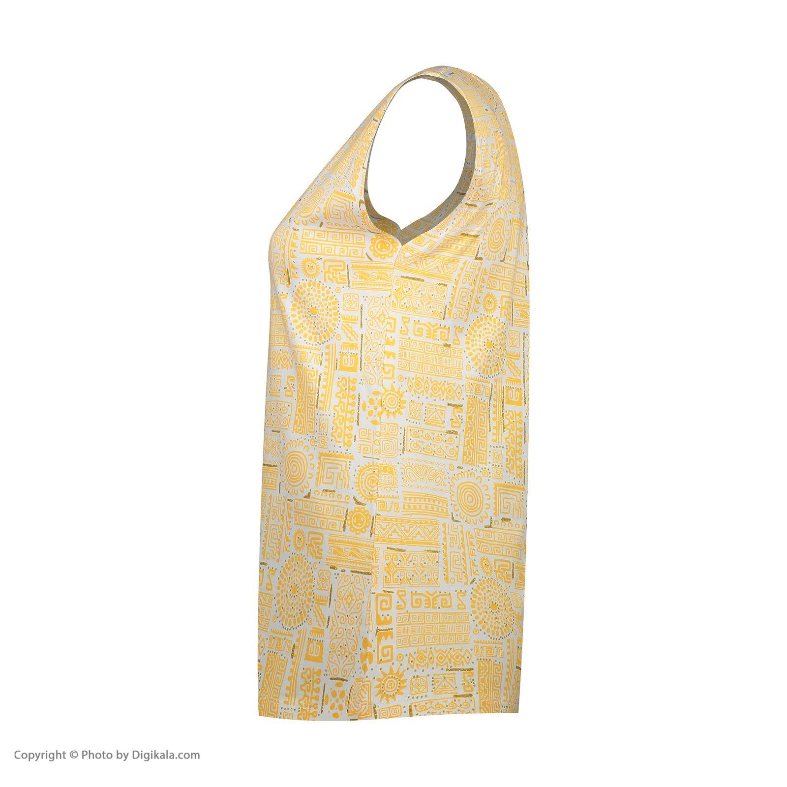 ست تاپ و شلوارک زنانه کد 0217 رنگ زرد -  - 8
