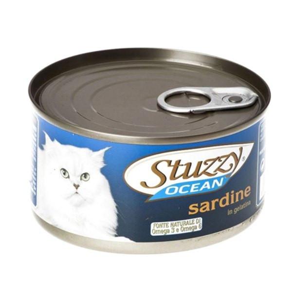 کنسرو گربه استوزی مدل sardine وزن ۱۸۵ گرم
