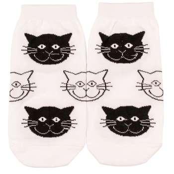 جوراب زنانه بوم طرح گربه کد SKB-2012