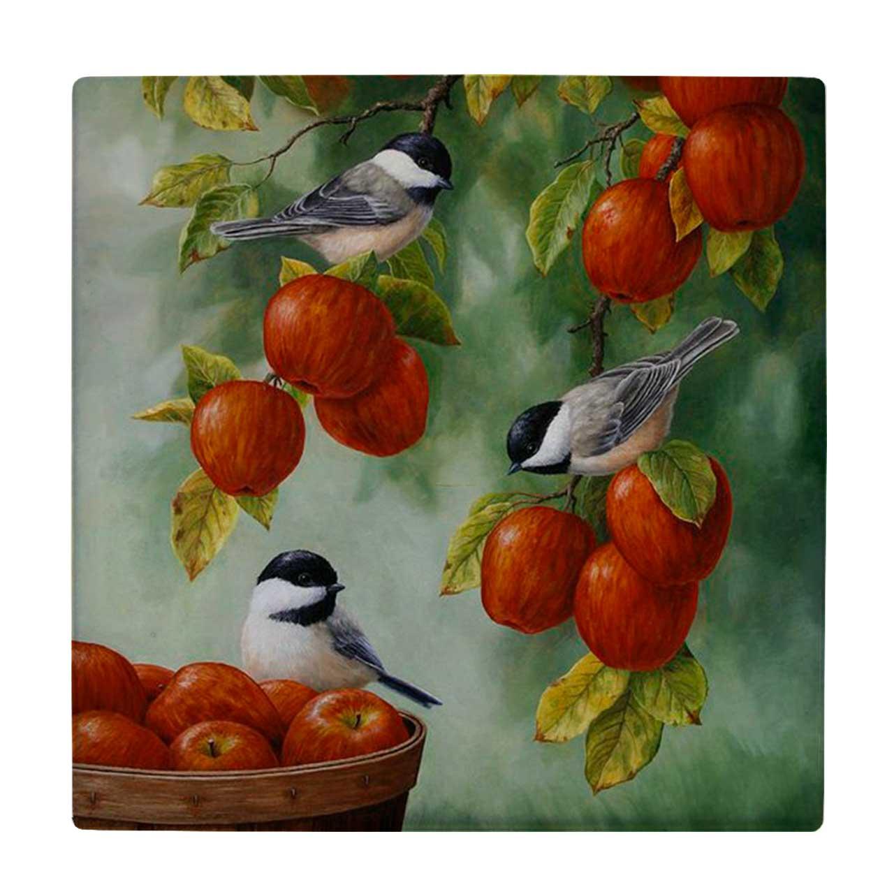 کاشی طرح پرندگان و شاخه سیب کد wk3190