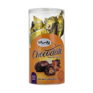 خرمای شکلاتی  با مغز بادام پارسان- 250 گرم