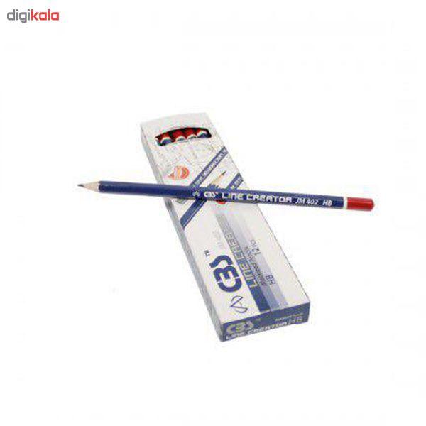 مداد مشکی سی بی اس مدل jm401  بسته 12 عددی main 1 1