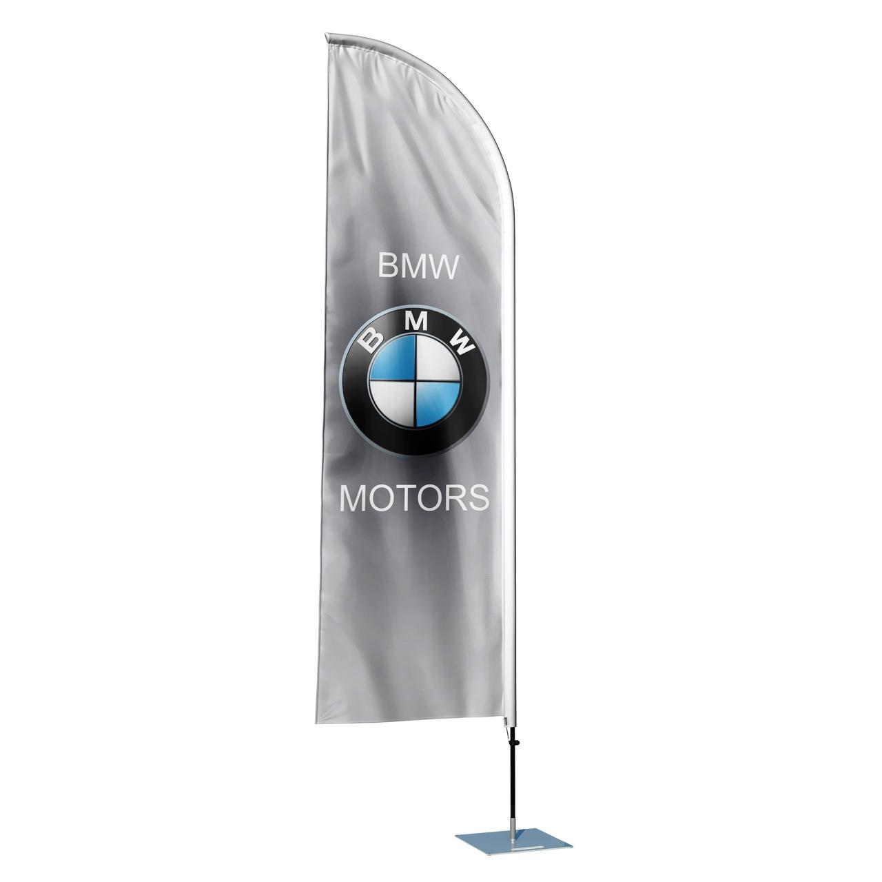 پرچم تبلیغاتی و ساحلی طرح کمپانی BMW مدل بادبانی کد SP1114RM