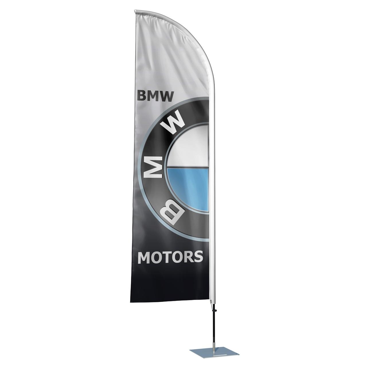پرچم تبلیغاتی و ساحلی طرح کمپانی BMW مدل بادبانی کد SP1115RM