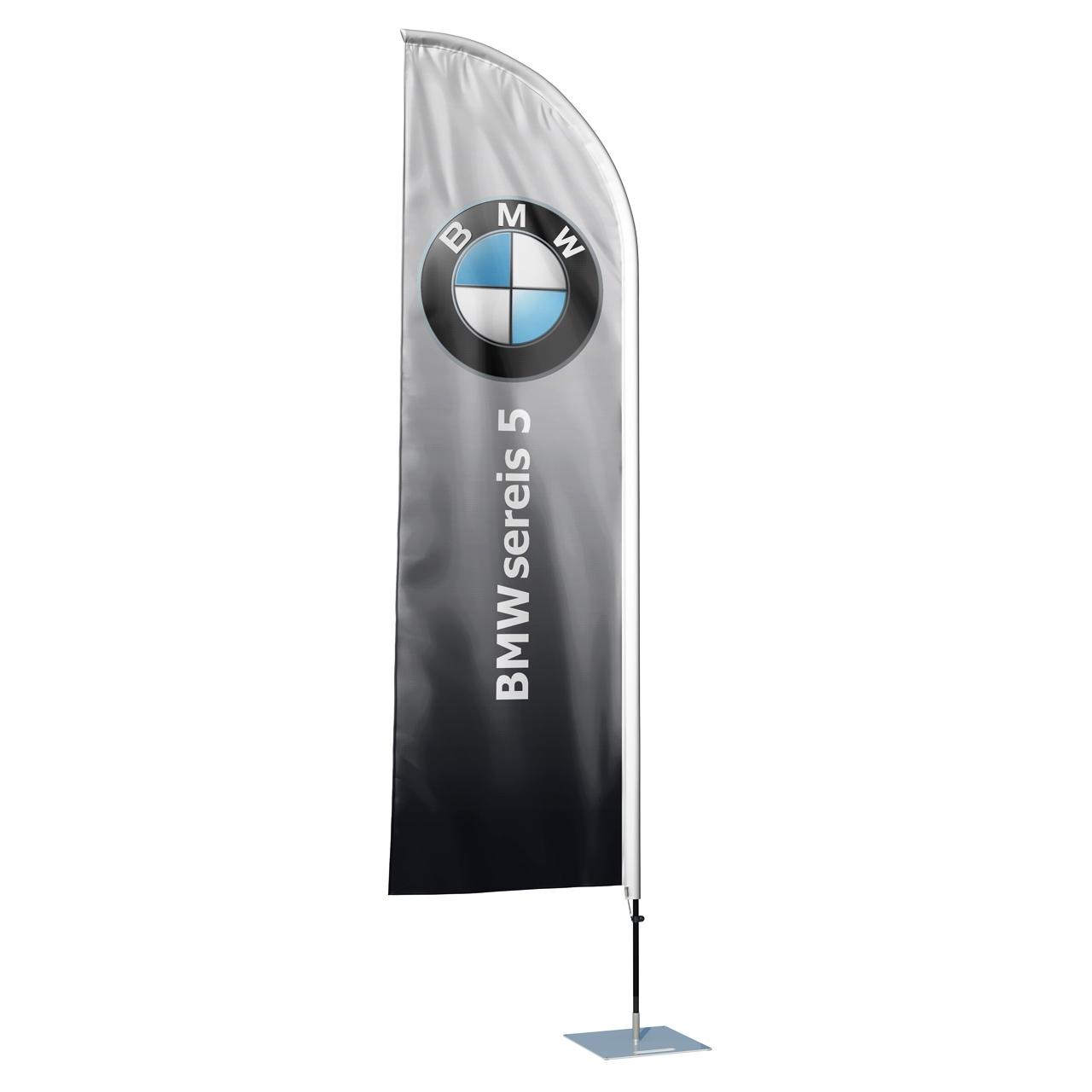 پرچم تبلیغاتی و ساحلی طرح کمپانی BMW مدل بادبانی کد SP1116