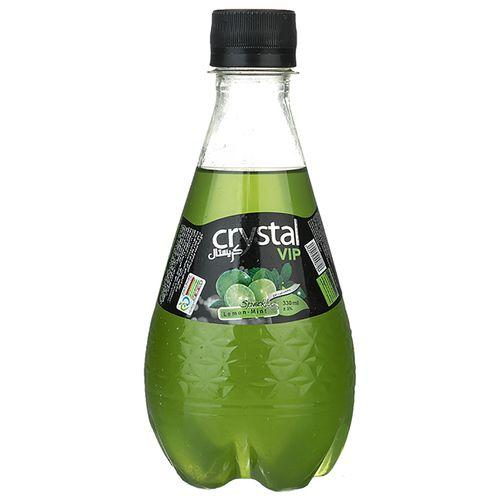 نوشابه گازدار با طعم لیمو ترش و نعنا کریستال مقدار 0.33 لیتر