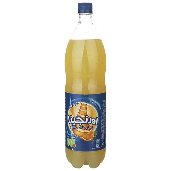 نوشابه گازدار با طعم پرتقال اورنجینا - 1.5 لیتر