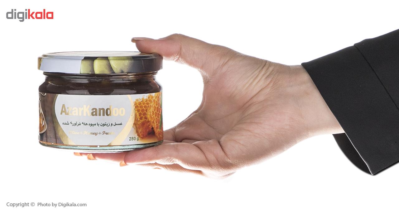 عسل و زیتون با میوه های فرآوری شده آذرکندو - 280 گرم main 1 1