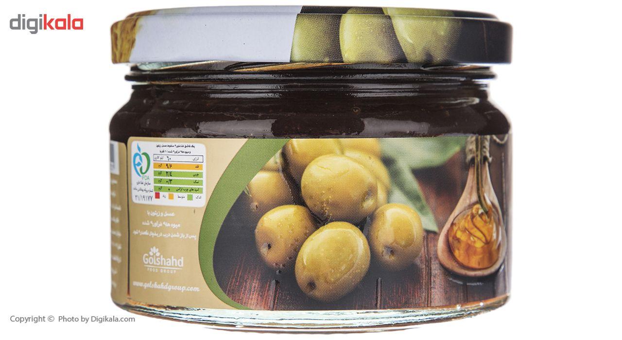 عسل و زیتون با میوه های فرآوری شده آذرکندو - 280 گرم main 1 3
