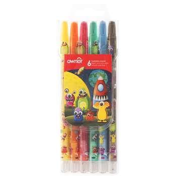 مداد شمعی 6 رنگ اونر مدل Twistable کد 533806