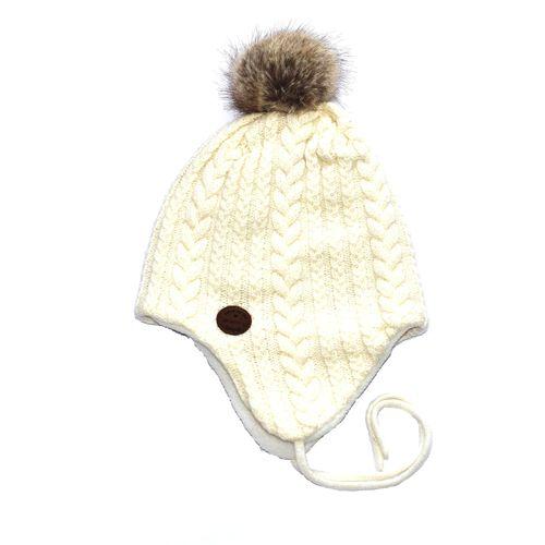 کلاه زمستانی بچگانه اچ اند ام پوم پوم دار مدل E047